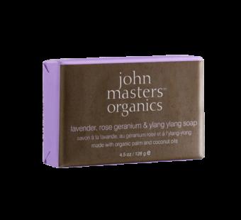 lavender rose geranium & ylang ylang soap