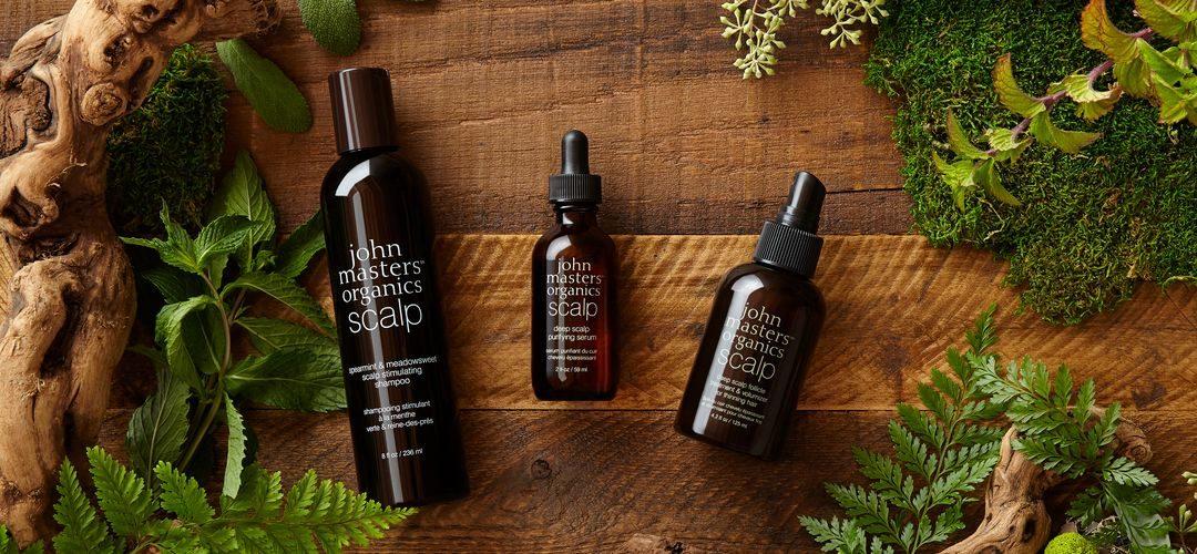 System trzech kroków dla optymalnego wzrostu włosów od John Masters Organics